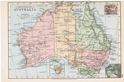 australia map 1900